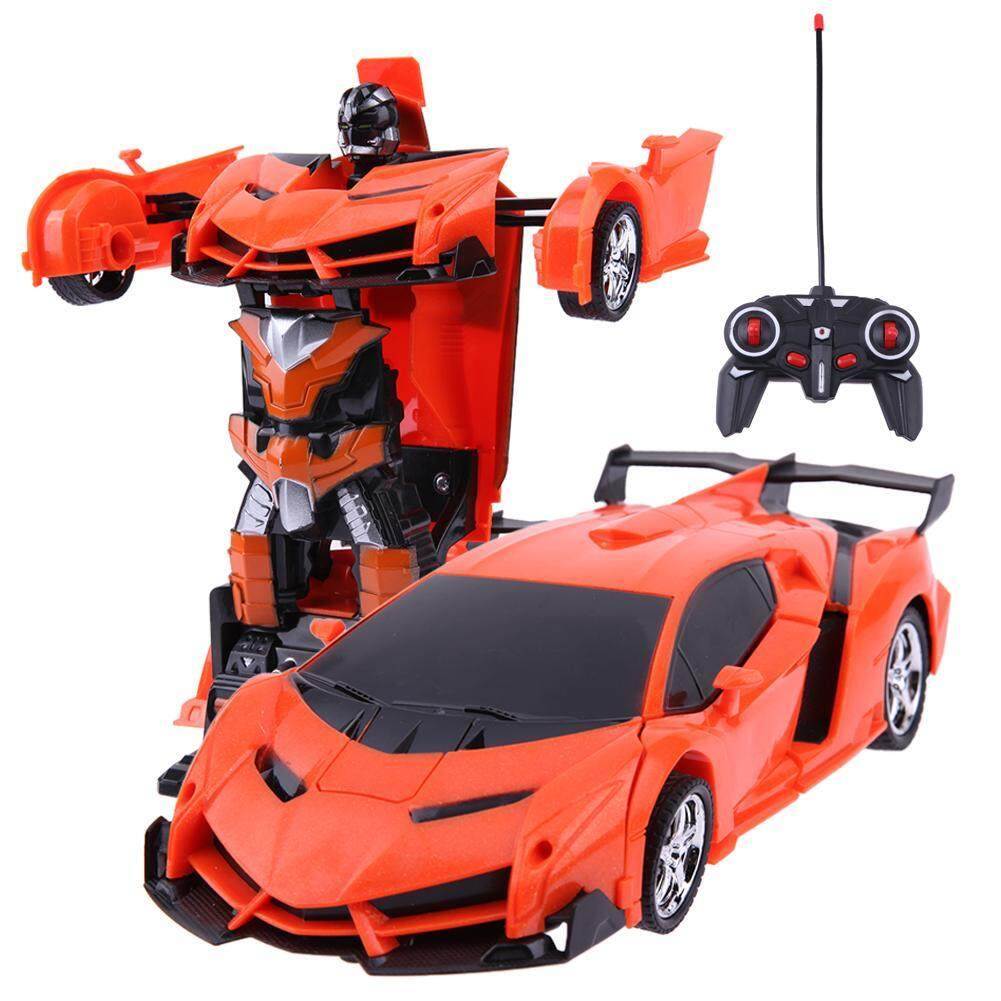 Best Price 2 In 1 Transformation Wireless Rc Car Model Deformation Robot Kids Toy Gift Intl
