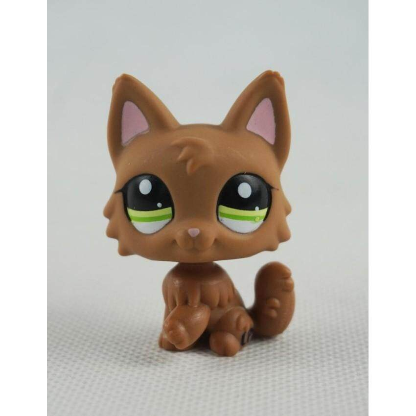 Buy 2 Inches Littlest Pet Shop Lps Toys 2440 Dog Puppy Brown Wolf Green Eyes Pink Ears G*rl Toys Intl Cheap On China