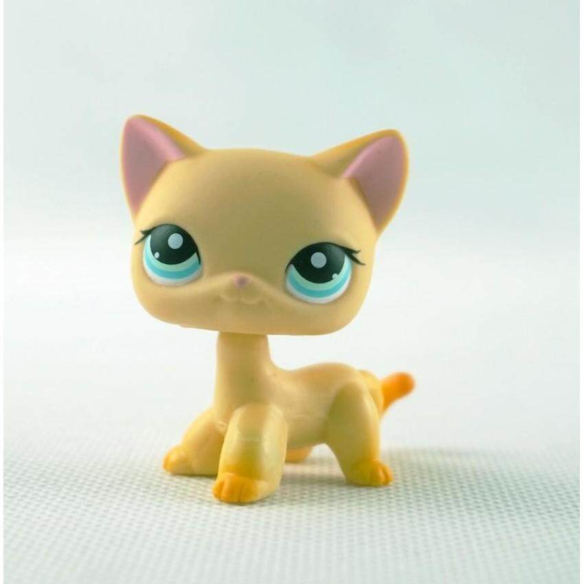 Sale 2 Inches Lps Littlest Pet Shop 339 Yellow Standing Short Hair Catblue Eyes G*Rl Toys Intl Hasbro Cheap