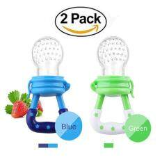 (2 Pack)fresh Food Feeder Pacifier,nibbler Baby Fruit Mesh Feeder Teething Toy Silicone Pouches For Toddlers&kids(color Random) By Q-Shop.