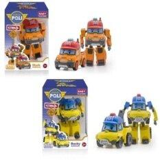 2 Pieces Robocar Poli Mainan Korea Mobil Robot Transformasi Mainan Boystoys dengan Kotak Pembungkus Hadiah untuk