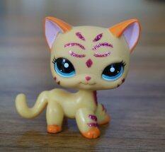 2'' Purple Glitter Sparkle Standing Ranch Cat Animals Littlest Pet Shop LPS 2118 Kids