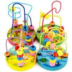 2 X Kids Early Childhood Education Wooden Bead Maze Toy (randomly Send) By Bluegeon.