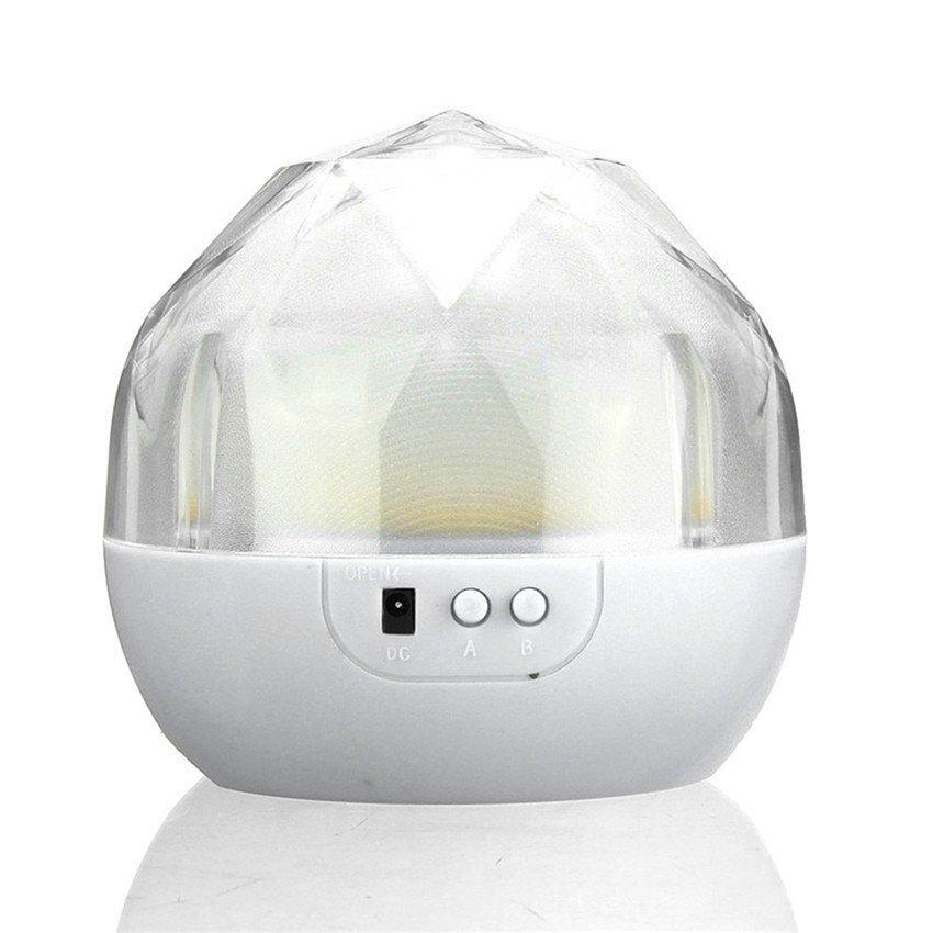 2016 Kualitas Tinggi Terbaru Portabel Sihir Proyek Lampu Berlian Shape3 Warna Changing LED Bintang Proyektor USB Pengisian Anak-anak Proyektor Lampu Malam (Putih) -Internasional