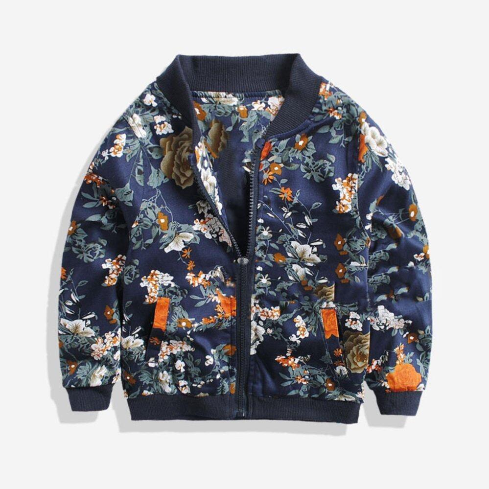 Soonyip Fashion Anak-anak Cetak Jaket Kerah Bulat Kaos Baseball Mantel Anak  Laki-laki 7a80a0a729