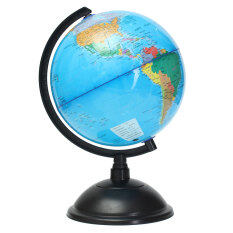 20cm Blue Ocean World Globe Map With Swivel Stand Geography Educational Toy Gift By Teamtop.