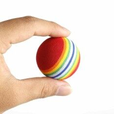 20 ชิ้น 42 มิลลิเมตรนักกอล์ฟ Club Rainbow ลูกกอล์ฟสำหรับฝึก Eva โฟมสายรัดป้องกันสำหรับตีกอล์ฟ.