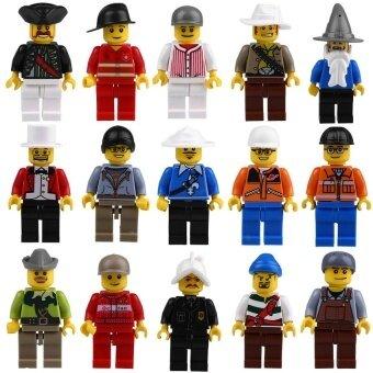 20pcs/Lot Mini Figures Men People Professional Role MinifiguresKids Toy Set