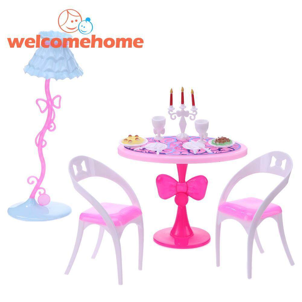 21 Pcs/set Candlelight Makan Malam Untuk Boneka Barbie Mini Dapur Tableware-Internasional By Welcomehome.