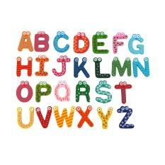 26pcs Letters Kids Wooden Alphabet Fridge Magnet Baby Toys Child Educational Toy By 1buycart.