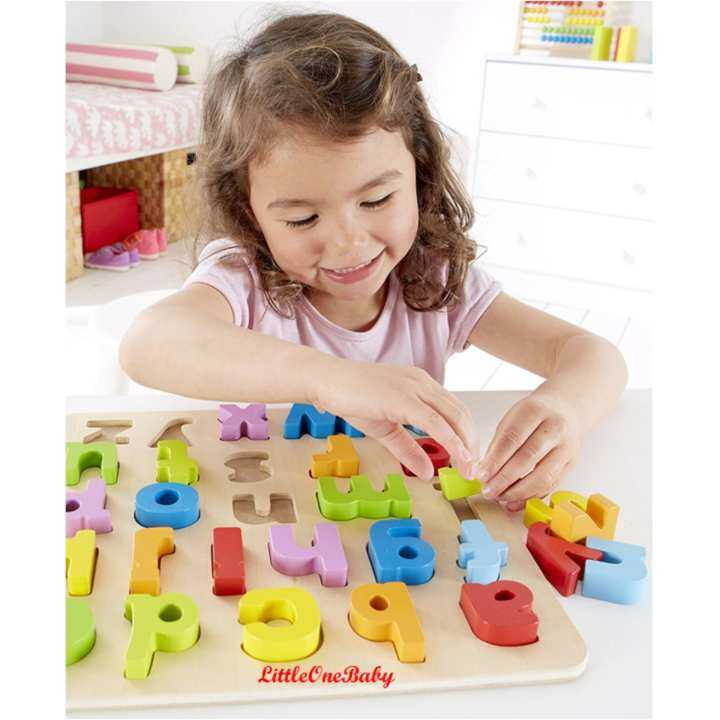 26pcs Wooden abc Lowercase Early Learning Toy / ALPHABET ...