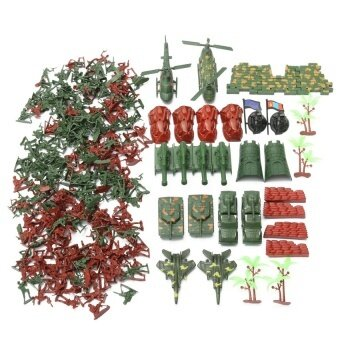 270Pcs Military Soldiers Toy Kit Army Men Figures & AccessoriesModel Playset