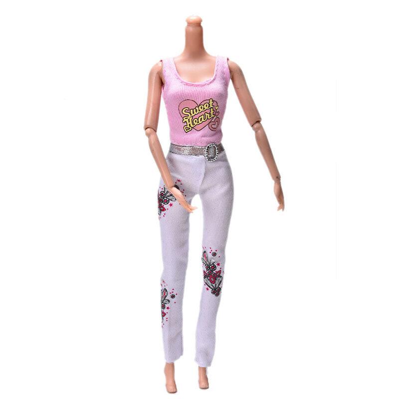... biru) (Cahaya. Source · 2 Pcs Mantel Lucu Rompi Rok untuk Boneka Barbie Berwarna Merah Muda Rompi Boneka Setelan Celana