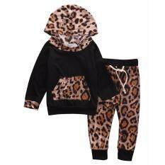 2pcs Kid Baby Boys Girls Leopard Pullover Hooded Coat + Pants Set Clothes Outfit 0-24m (18-24 Months) By Gl1297 Store.