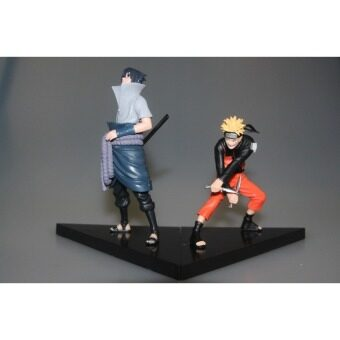 2 Pcs/set Naruto Uchica Sasuke + Uzumaki Naruto PVC Actionfiguremodel Mainan 14 Cm Tas OPP Tt024-Intl
