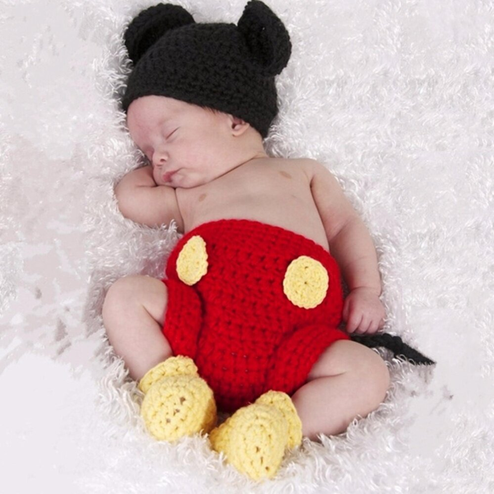 a347223e8ab015 2pcs/set Newborn Baby Girls Boys Crochet Knit Costume Photography Prop  Outfits - Intl By