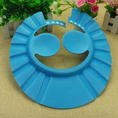 3 Colors Adjustable Baby Kids Shampoo Bath Bathing Shower Cap Hat Type :Blue With Ear