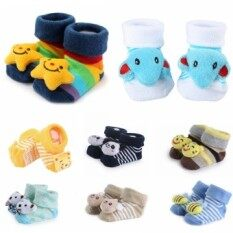 3 Pairs 3d Cartoon Animal Antiskid Baby Boys Socks For 0-6 Months By Yihe Store.