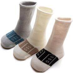8786fb094 3 pairs Cotton Baby Socks Printed Kids Boy Girl Socks Anti Slip Cartoon  Warmers socks big