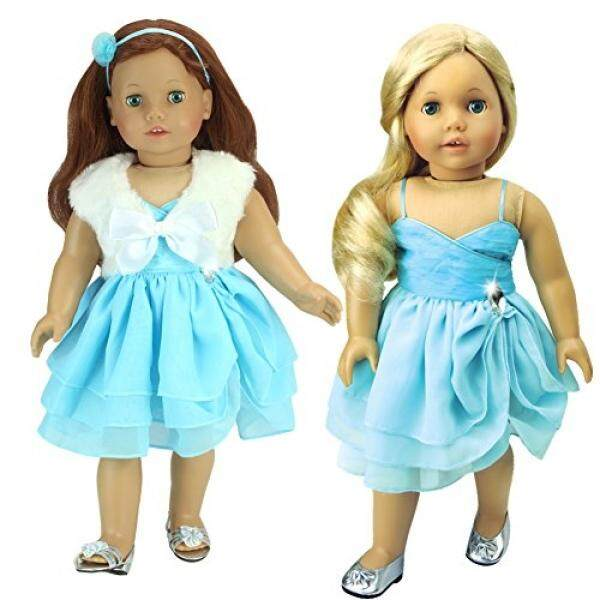 3 Pc Set, 18 Inch Doll Clothes Fits American Girl Dolls & More! Jeweled