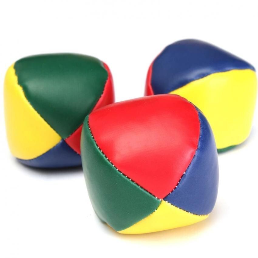 Hình ảnh 3 PCS Juggling Balls Set Classic Bean Bag Juggle Magic Circus Beginner Kids Toy Gift - intl