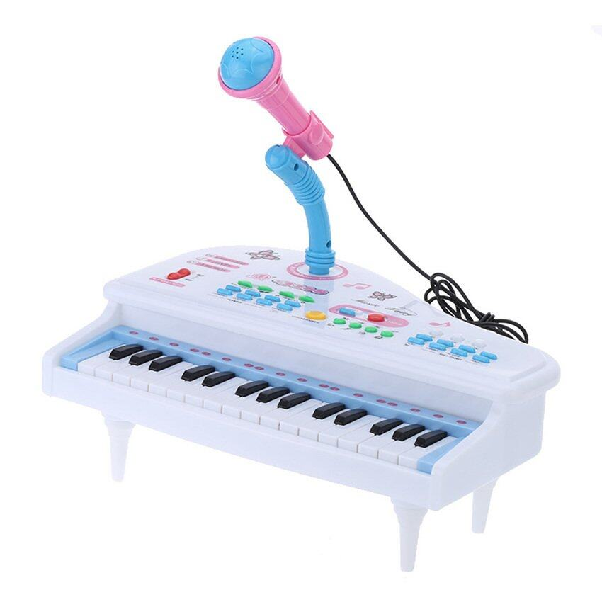 31 Tombol Multifungsi Mini Simulasi Piano Mainan dengan Mikrofon Listrik Keyboard Electone Musik Mainan Hadiah untuk Anak-anak Anak-anak-Internasional