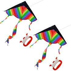 360dsc 2pcs Outdoor Sky Dancer Toy Kite 600d Polyester Fiberglass Triangle Flying Kite With Long Tail By 360dsc.