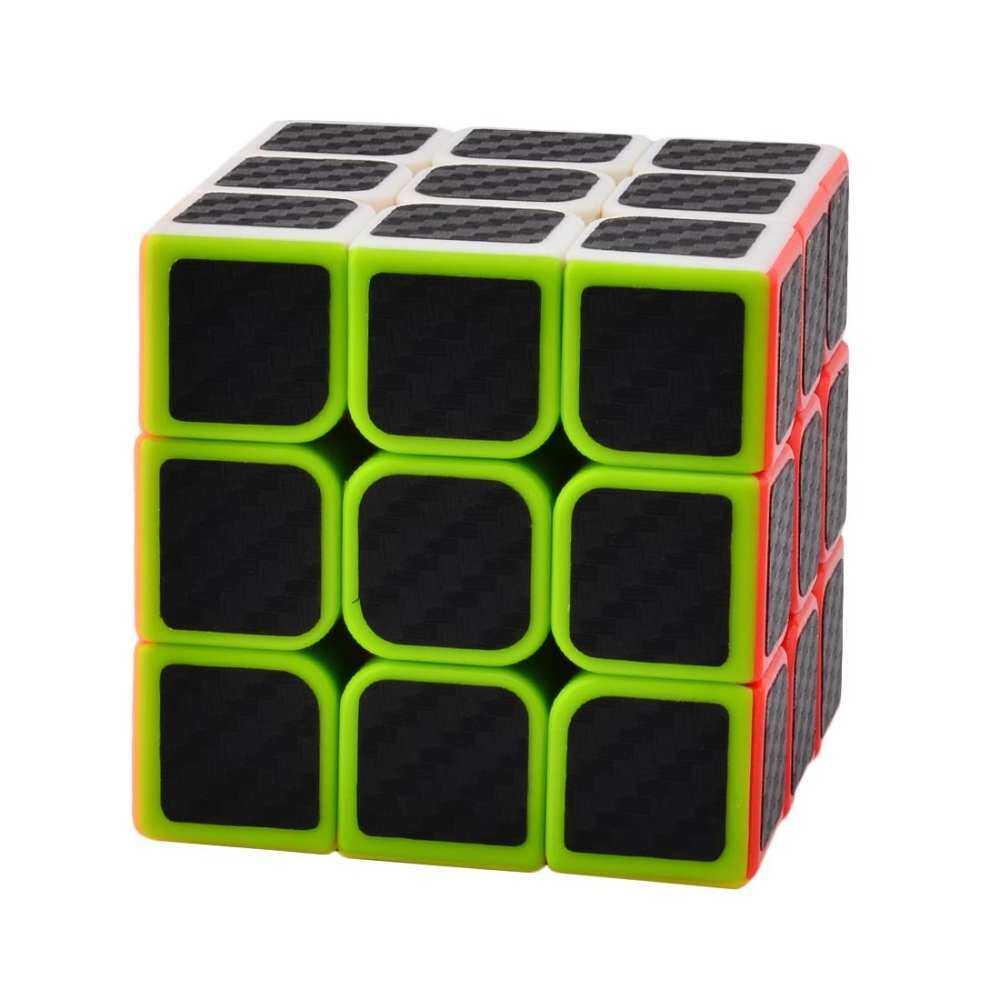 360DSC 3X3X3 Speed Rubik dan Tubuh Stiker Hitam 6-Puzzle Warna