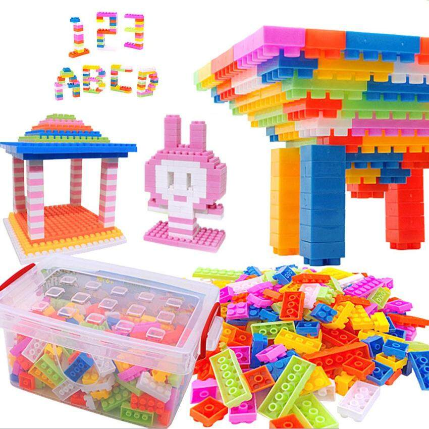 360WISH Reusable 216-Piece Plastic Kids Puzzle Educational Building Blocks Bricks Toys DIY Bloks Toy Set