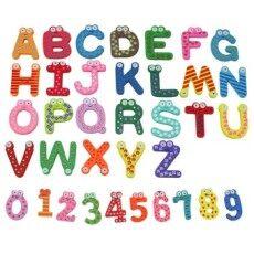 36X Desain Kartun Kayu Jumlah Huruf Kulkas Magnet Kulkas Mainan Anak-anak- Intl-