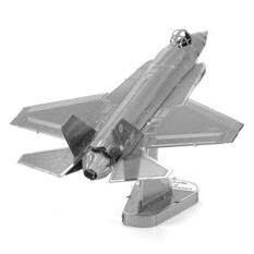 3d Metal Puzzle F35 Fighter Model Toy - Silver By Extreme Deals.