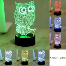 3d Owl Led Desk Table Lamp Night Light 7 Color Change Touch Art Home Child Bedroom Sleeping Decor Holiday Party Gifts By Itong.