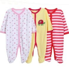 3pcs Baby Girl Next Sleepsuit (random Design) By Sunsuria Trading.