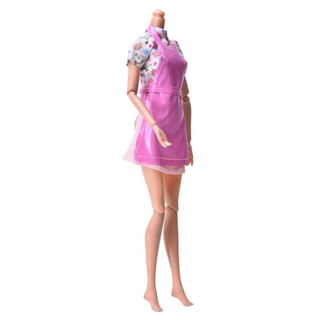 Buy Sell Cheapest Mj Setelan Barbie Best Quality Product Deals Katalog Berbie Baju 3 Pcs Pakaian Untuk Dengan Celemek Dapur Boneka Bayi Imut Aksesori Berwarna Merah Muda