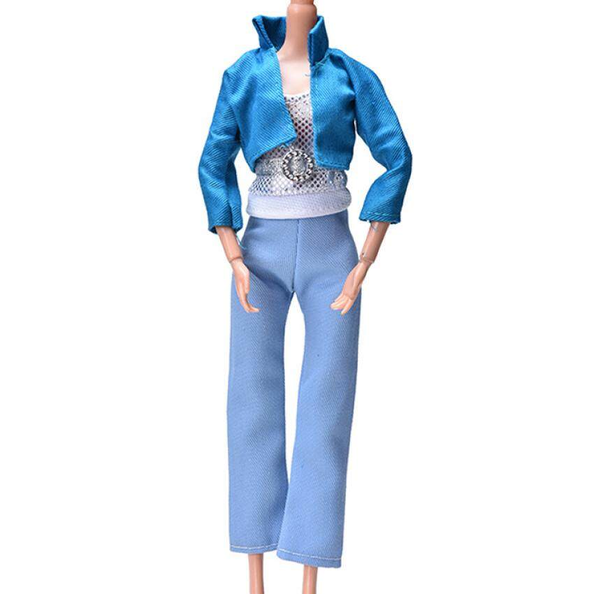 3 Pcs Modis Kain Mantel Pant Rompi untuk Boneka Boneka Boneka Mainan Anak- anak-