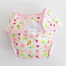 3pcs/lot 12-24 Months Baby Washable Cloth Diaper Nappy Pant Cotton Tpu Infant Washable Reuseable Diaper Cloth For Baby Girls - Size L Flower Pot By Aprillan International Store.