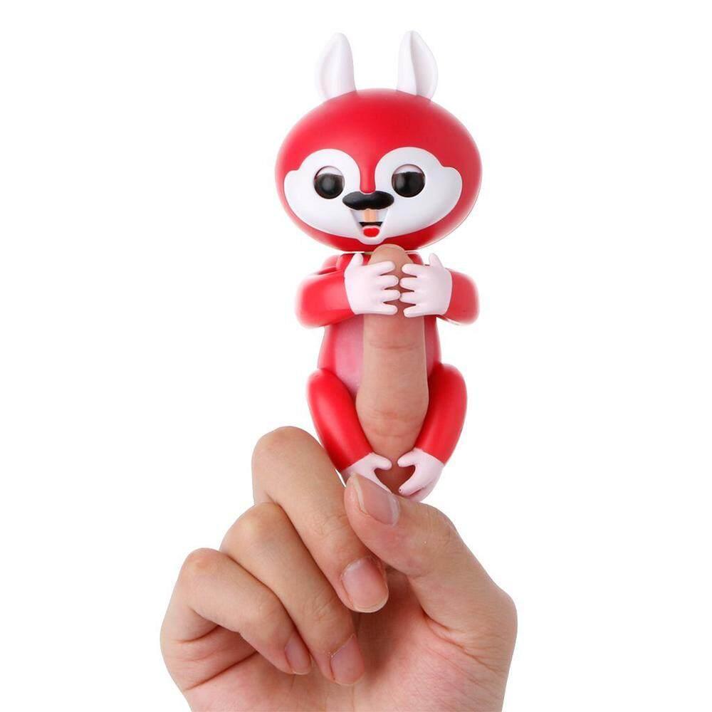 4 Warna Jari Squirrel Elektronik Interaktif Fingertip Robot Peliharaan  Mainan Pintar Monyet Sensor Induksi Hadiah Natal eace0a632e