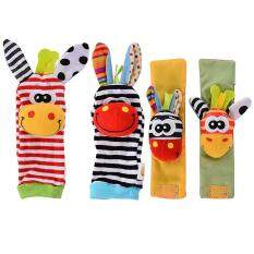 4 X Newest Wrist Rattles Hands Foots Finders Ba Infant Soft Toy Developmental By Qimiao Store.