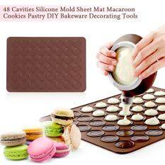 48 Cavities Silicone Mold Sheet Mat Macaroon Cookies Pastry Diy Bakeware Decorating Tools By Beautytop.