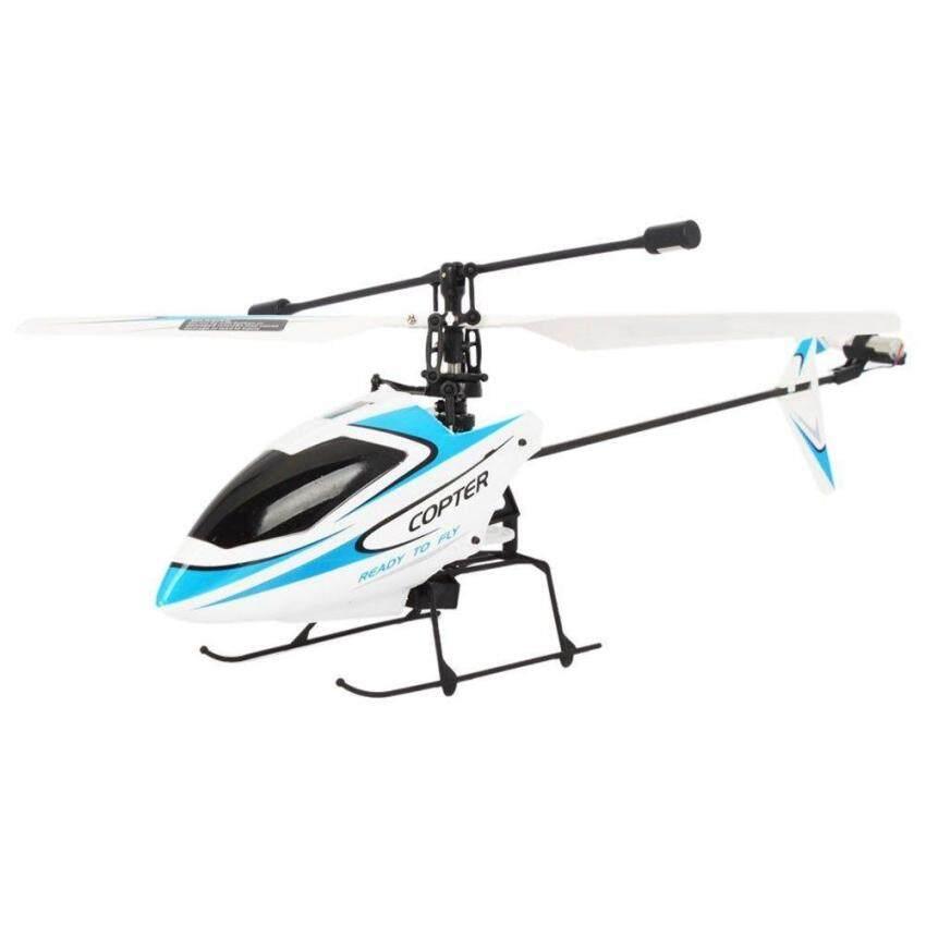 FY 4CH 2.4GHz Mini Radio Single Propeller RC Helicopter Gyro V911 RTF White&Blue