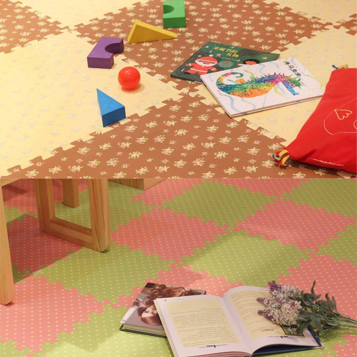 4Pcs Eva Soft Foam Floor Interlocking Mat 24 Baby Room Crawl Play House .