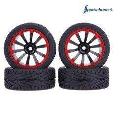4pcs Flat Running Tyre Rubber Wheel Rc Car Part Fit For 1/10 Hsp Hpi Redcat By Sportschannel.