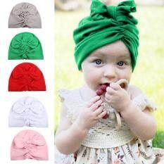 16df1b1afec 5 Pcs Newborn Baby Hat Elastic Bowknot Hats Caps Hairband Toddler Infant  Girl Boy Head Wrap