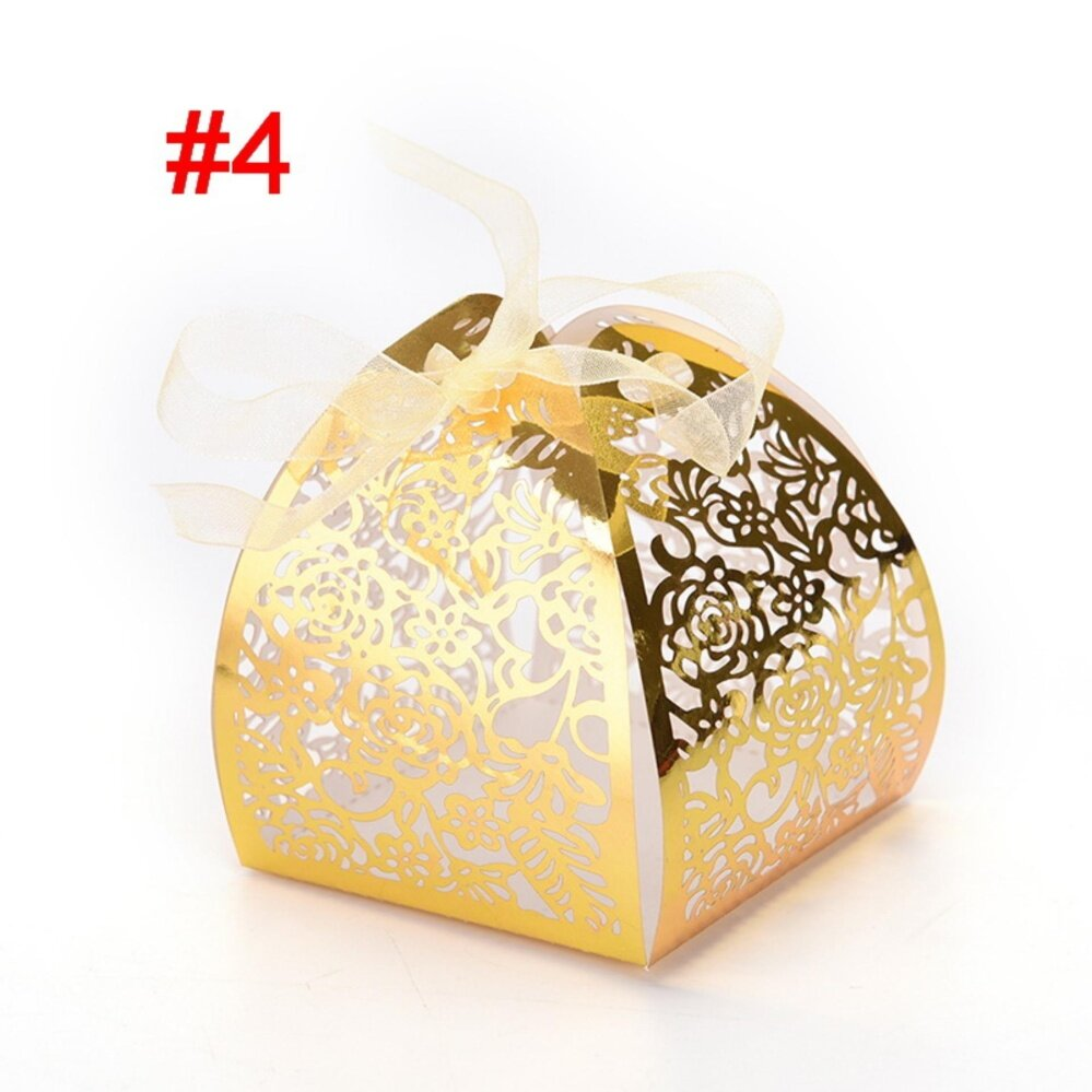 50pcs/lot Butterfly Candy Box Wedding Favors Gifts Box for Wedding Supplies Style 4 - intl