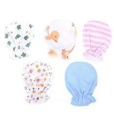 5pair Soft Cotton Baby Gloves Four Seasons Gloves Newborn Safety Gloves By Welcomehome.