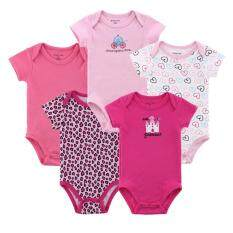 5pcs Baby Girl Carter Romper (random Design) By 168 Concept Trading.