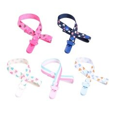 5pcs Unisex Baby Pacifier Clip Teething Ring Holders Modern Design For Baby Boys And Girls By Stoneky.