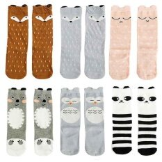 7b1fe7889c6 6 Pairs Baby Girl boy Socks Toddler Boy Animal Knee High Socks for 0 - 6