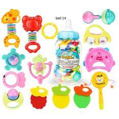 6 Pieces 10 Pieces Or 14 Pieces Of Newborn Baby Bell Toy Set Puzzle Early Educational Hand Bells Style:14 Pieces Of Bell Set And A Feeder By Hiquuen.