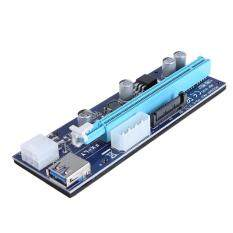 6 Pin PCI Express Riser Card 1x to 16x USB 3.0 Cable with Light for Miner